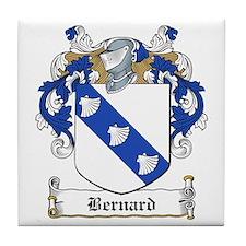 Bernard Family Crest Tile Coaster
