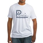 Peace to all Mankind Fitted T-Shirt