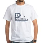 Peace to all Mankind White T-Shirt