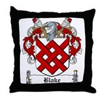 Blake Family Crest Throw Pillow