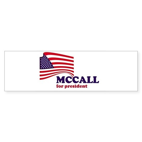 James H. McCall for president Bumper Sticker
