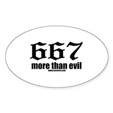 667 More Than Evil Oval Decal