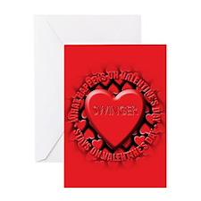 swinger Greeting Card