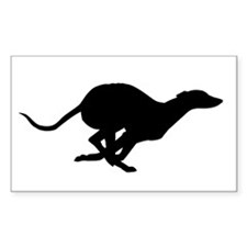 Running Silhouette Rectangle Decal