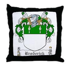 Broderick Family Crest Throw Pillow