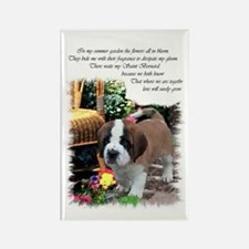 Saint Bernard Puppy Rectangle Magnet (10 pack)