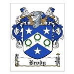 Brody Family Crest Small Poster
