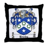 Brody Family Crest Throw Pillow