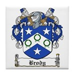 Brody Family Crest Tile Coaster