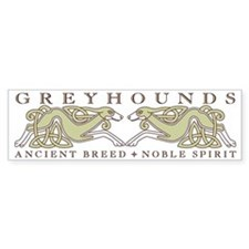 Knotwork Greyhounds Bumper Bumper Sticker