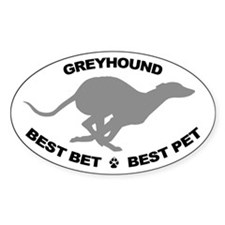Best Bet Oval Sticker, Grey GH