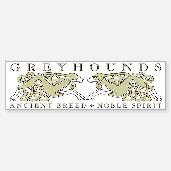 Knotwork Greyhounds Bumper Bumper Bumper Sticker