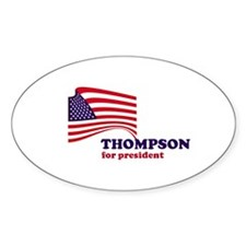 Fred Thompson for president Oval Decal