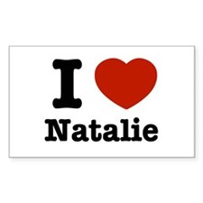 I love Natalie Rectangle Decal