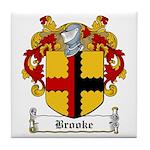 Brooke Family Crest Tile Coaster