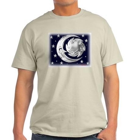 Sun Moon Stars-silver Ash Grey T-Shirt
