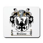 Browne Family Crest Mousepad