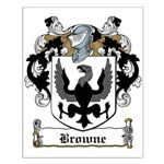 Browne Family Crest Small Poster
