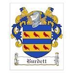 Burdett Family Crest Small Poster