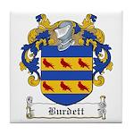 Burdett Family Crest Tile Coaster