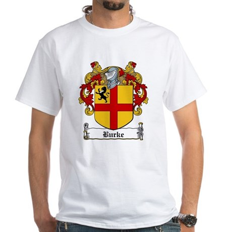Burke Family Crest White T-Shirt