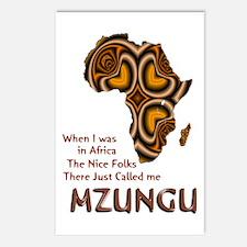 Mzungu - Postcards (Package of 8)
