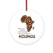 Mzungu - Ornament (Round)