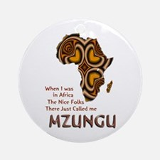 Mzungu - Ornament (Round)