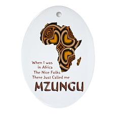 Mzungu - Oval Ornament