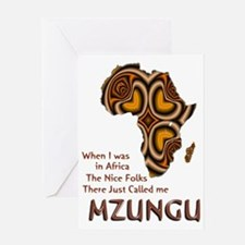 Mzungu - Greeting Card