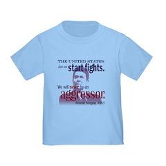 Ronald Reagan Never Aggressor T