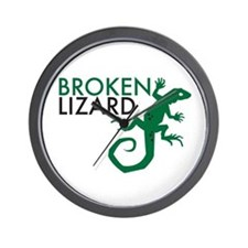 Broken Lizard Wall Clock