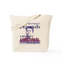 Ronald Reagan Liberty Contracts Tote Bag