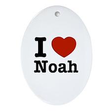 I love Noah Oval Ornament