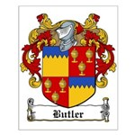 Butler Family Crest Small Poster