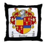 Butler Family Crest Throw Pillow