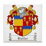 Butler Family Crest Tile Coaster