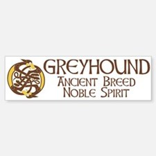 Celtic Hound Circle Bumper Bumper Bumper Sticker