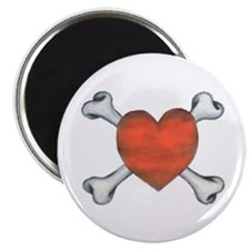 Heart and Crossbones Magnet