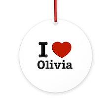 I love Olivia Ornament (Round)