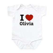 I love Olivia Infant Bodysuit