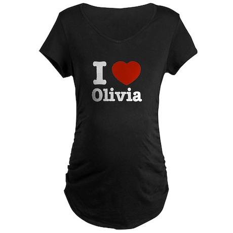 I love Olivia Maternity Dark T-Shirt