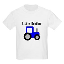 Little Brother Blue Tractor T-Shirt