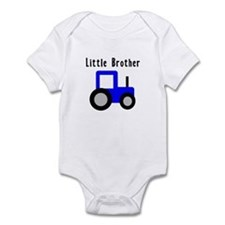 Little Brother Blue Tractor Infant Bodysuit