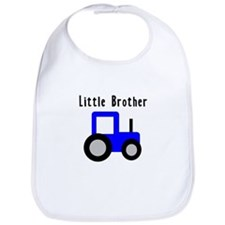 Little Brother Blue Tractor Bib