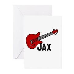 Guitar - Jax Greeting Cards (Pk of 10)