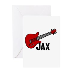 Guitar - Jax Greeting Card