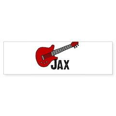 Guitar - Jax Bumper Bumper Sticker