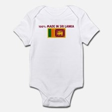 100 PERCENT MADE IN SRI LANKA Infant Bodysuit