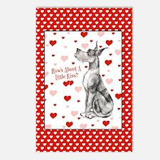 Great Dane Merle Kiss Postcards (Package of 8)